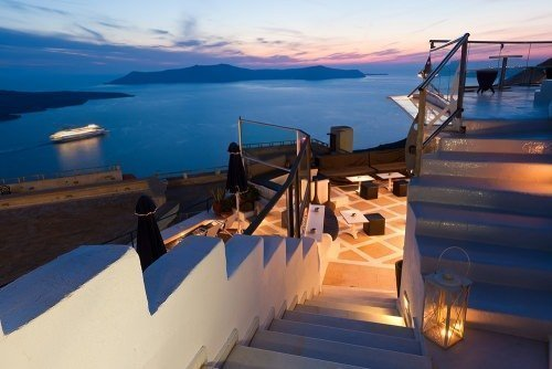 Santorini Bar Sunset