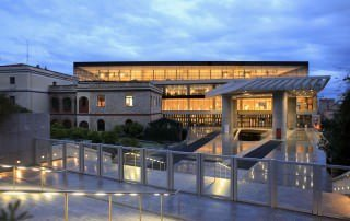 Acropolis museum at sunset