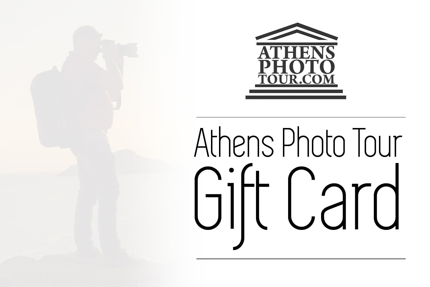 Athens Photo Tour - Gift cards